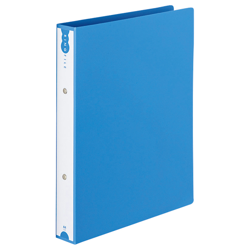 TANOSEE リングファイル(PP表紙) A4タテ 2穴 260枚収容 背幅42mm ブルー 1冊