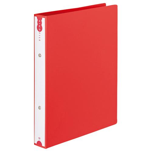 TANOSEE リングファイル(PP表紙) A4タテ 2穴 260枚収容 背幅42mm レッド 1冊