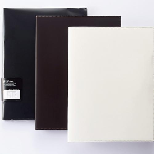 プロッシモ リサイクルレザーファイル A4 背幅15mm ブラック PRORLFA4BK 1冊