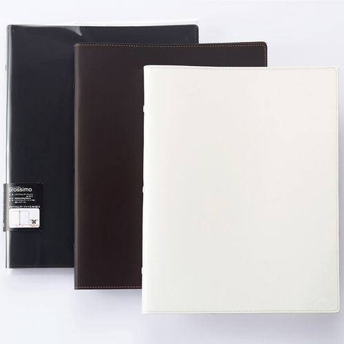 プロッシモ リサイクルレザーファイル A4タテ 30穴 10枚収容 背幅20mm ホワイト PROR30A4WH 1冊