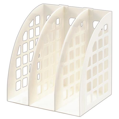 ハピラ ファイルボックス A4 ホワイト FBXWH 1セット(3個)