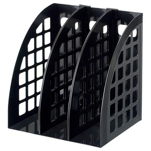 ハピラ ファイルボックス A4 ブラック FBXBK 1セット(3個)