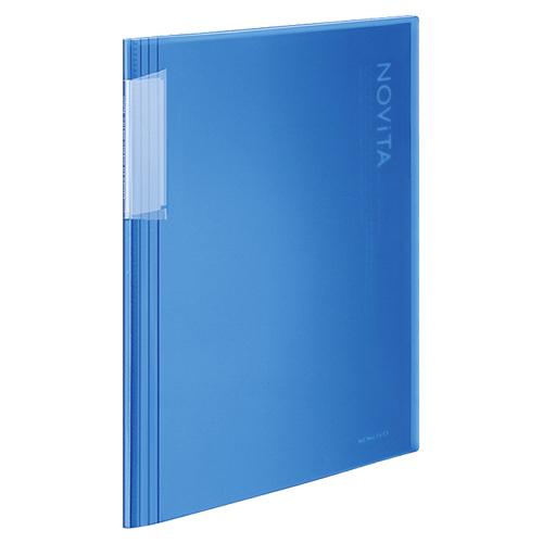 コクヨ クリヤーブック(ノビータ) 固定式 A4タテ 20ポケット 背幅5~40mm 青 ラ-N20B 1冊