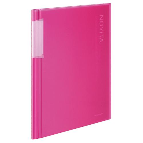 コクヨ クリヤーブック(ノビータ) 固定式 A4タテ 20ポケット 背幅5~40mm ピンク ラ-N20P 1冊