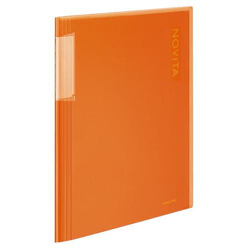 コクヨ クリヤーブック(ノビータ) 固定式 A4タテ 20ポケット 背幅5~40mm オレンジ ラ-N20YR 1冊