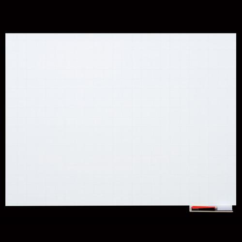 マグエックス マグネットホワイトボードシート 暗線入 大 900×600mm MSHP-6090-M 1枚