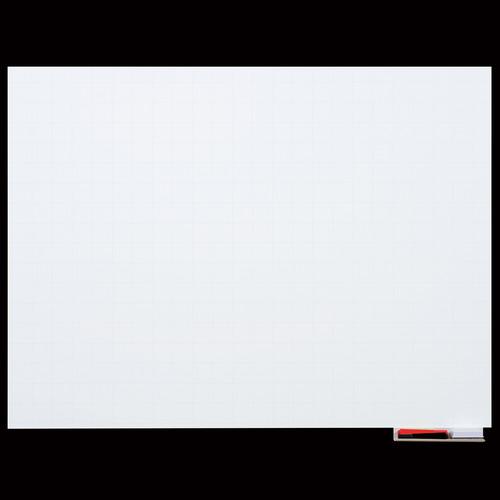 マグエックス マグネットホワイトボードシート 暗線入 特大 1200×900mm MSHP-90120-M 1枚