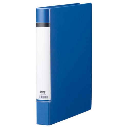 TANOSEE Oリングファイル(貼り表紙) A4タテ 2穴 200枚収容 背幅40mm 青 1冊