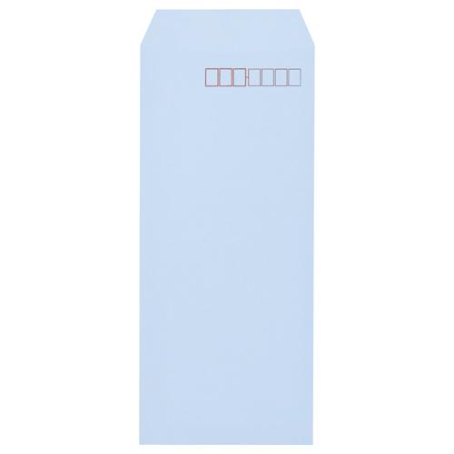キングコーポレーション ソフトカラー封筒 長4 80g/m2 〒枠あり アクア N4S80A 1パック(100枚)