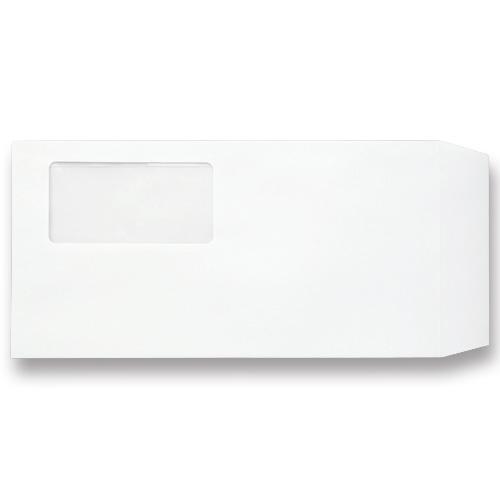 TANOSEE 窓付封筒 ワンタッチテープ付 長3 80g/m2 ホワイト 1パック(100枚)