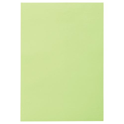 TANOSEE 色画用紙 四つ切 わかくさ 1パック(10枚)