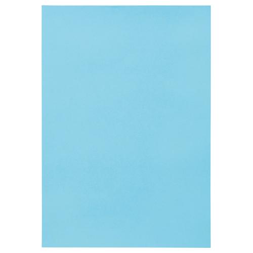TANOSEE 色画用紙 四つ切 みずいろ 1パック(10枚)