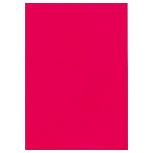 TANOSEE 色画用紙 四つ切 あか 1パック(10枚)
