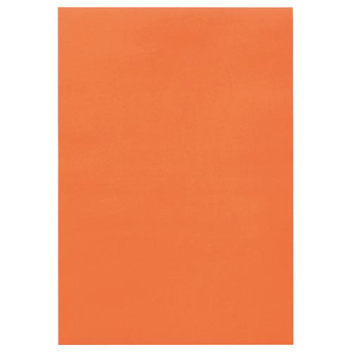 TANOSEE 色画用紙 四つ切 だいだい 1パック(10枚)