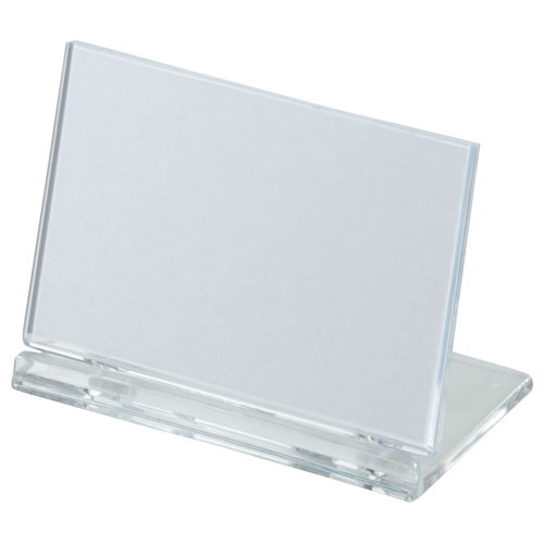 光 カード立て 可動式 W80×H50mm 透明 UC2-1 1個