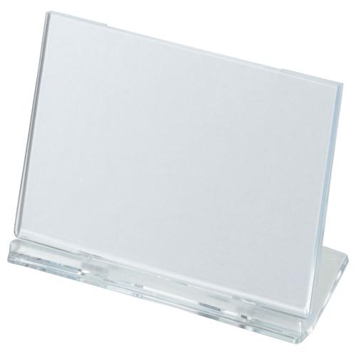 光 カード立て 可動式 W100×H65mm 透明 UC1-1 1個