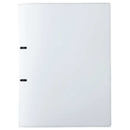 プロッシモ リサイクルレザー Dリングファイル A4タテ 2穴 90枚収容 背幅18mm ホワイト PRORLDA4WH 1冊
