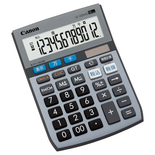 キヤノン 電卓 千万単位シリーズ LS-122TUG 12桁 ミニ卓上タイプ 5570B001 1台