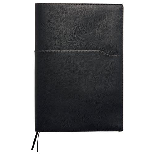 SEF ノートカバー セミB5 ブラック×グリズリー SEFNTCB5BL 1冊