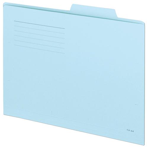 TANOSEE 個別フォルダー(スーパーライトカラー) A4 ブルー 1セット(100冊:10冊×10パック)