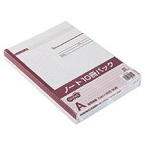 TANOSEE ノートブック セミB5 A罫7mm 30枚 1セット(180冊:10冊×18パック)