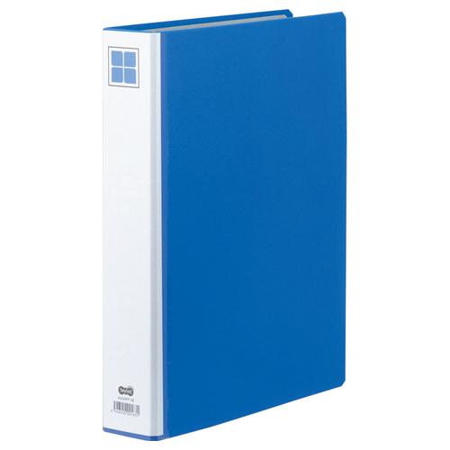 TANOSEE 両開きパイプ式ファイルE A4タテ 400枚収容 40mmとじ 背幅66mm 青 1セット(10冊)