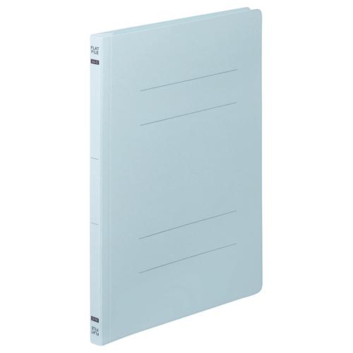 TANOSEE フラットファイルE A4タテ 150枚収容 背幅18mm ブルー 1セット(200冊:10冊×20パック)