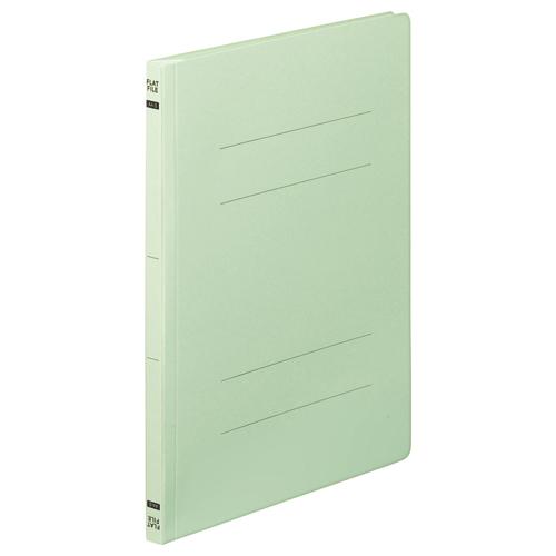 TANOSEE フラットファイルE A4タテ 150枚収容 背幅18mm グリーン 1セット(200冊:10冊×20パック)