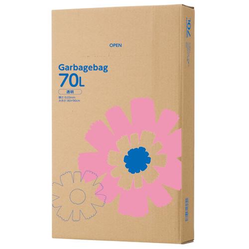 TANOSEE ゴミ袋 透明 70L BOXタイプ 1セット(440枚:110枚×4箱)