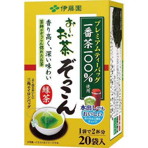 伊藤園 プレミアムティーバッグ おーいお茶 ぞっこん 1.8g 1セット(60バッグ:20バッグ×3箱)