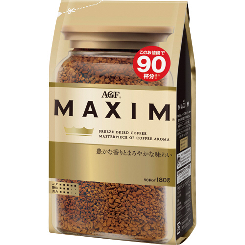 AGF マキシム インスタントコーヒー 180g 1セット(3袋)