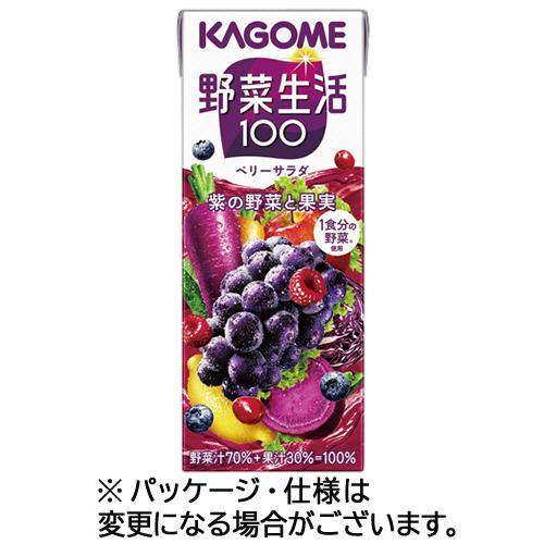 カゴメ 野菜生活100 エナジールーツ 200ml 紙パック 1セット(24本)