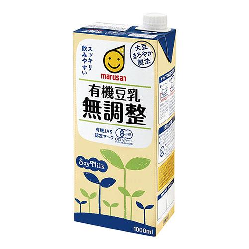 マルサンアイ 有機豆乳 無調整 1L 紙パック 1ケース(6本)