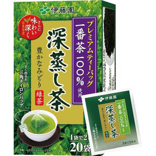 伊藤園 プレミアムティーバッグ 深蒸し茶 1.9g 1セット(60バッグ:20バッグ×3箱)