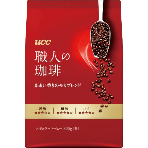 UCC 職人の珈琲 あまい香りのモカブレンド 300g(粉) 1セット(3袋)
