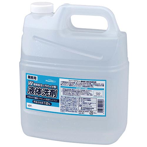熊野油脂 ファーマアクト 液体洗濯洗剤 業務用 4L 1セット(4本)