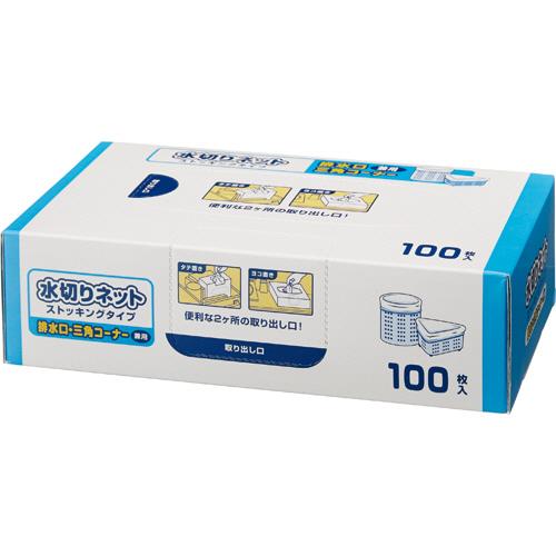 TANOSEE 水切り袋 ネットストッキングタイプ 排水口・三角コーナー兼用 BOXタイプ 1セット(300枚:100枚×3箱)