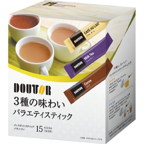 ドトールコーヒー 3種の味わい バラエティスティック 1セット(60本:15本×4箱)