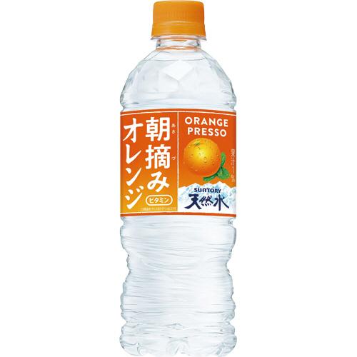 サントリー 朝摘みオレンジ&南アルプスの天然水 冷凍兼用ボトル 540ml ペットボトル 1ケース(24本)