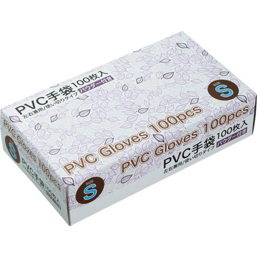PVCグローブ パウダーあり S 1セット(4000枚:100枚×40箱)