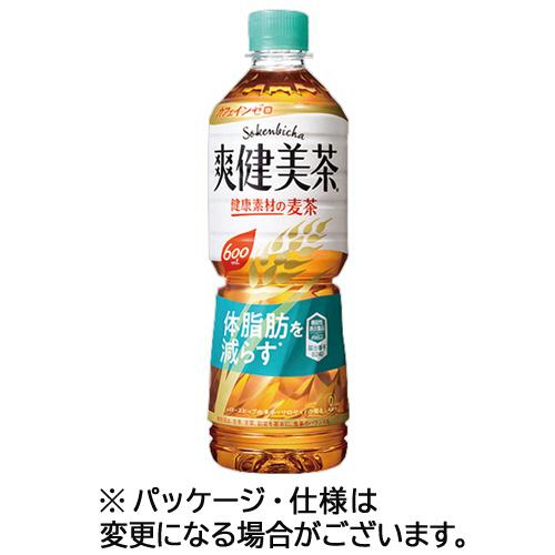 コカ・コーラ 爽健美茶 健康素材の麦茶 600ml ペットボトル 1ケース(24本)