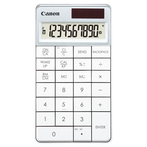 キヤノン テンキー電卓 X Mark I Keypad RF-WH HWB 10桁 ワイヤレス接続 ミニ卓上タイプ ホワイト 5094B005 1台