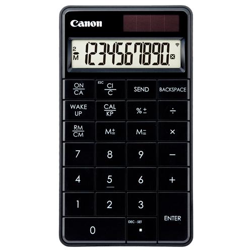 キヤノン テンキー電卓 X Mark I Keypad RF-BK HWB 10桁 ワイヤレス接続 ミニ卓上タイプ ブラック 5094B004 1台