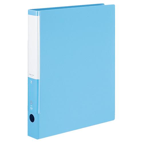 コクヨ リングファイル(POSITY) A4タテ 2穴 300枚収容 背幅42mm ライトブルー P3フ-CR430LB 1冊