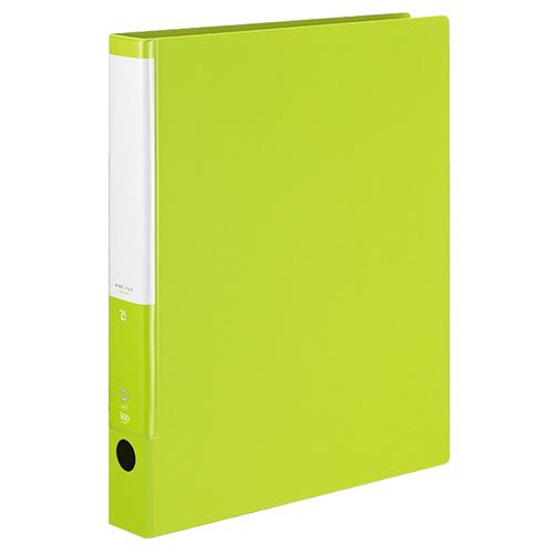 コクヨ リングファイル(POSITY) A4タテ 2穴 300枚収容 背幅42mm ライトグリーン P3フ-CR430LG 1冊