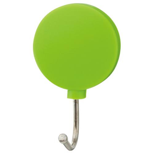TANOSEE カラーマグネットフック スイング 耐荷重約1kg 緑 1個