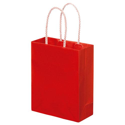 スーパーバッグ ライナー手提袋 小 ヨコ165×タテ200×マチ幅75mm 赤 0998900120 1パック(10枚)