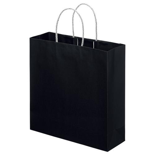 スーパーバッグ ライナー手提袋 中 ヨコ320×タテ320×マチ幅110mm 黒 0998900140 1パック(10枚)