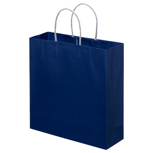 スーパーバッグ ライナー手提袋 中 ヨコ320×タテ320×マチ幅110mm 紺 0998900150 1パック(10枚)