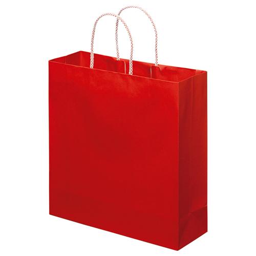 スーパーバッグ ライナー手提袋 中 ヨコ320×タテ320×マチ幅110mm 赤 0998900160 1パック(10枚)